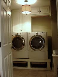 washer dryer stand installed