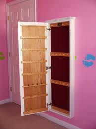Jewelry Organizer Wall Bedroom Interesting Safety Storage Design With Over The Door