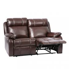classic double reclining loveseat leather living room furniture recliner sofa 0 double s84