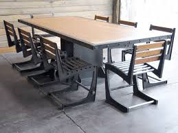 winning industrial dining table awesome room on antique handmade hyatt vine dining room with post