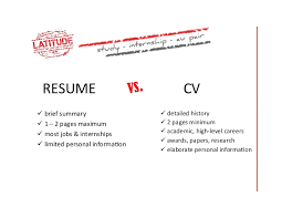 Best Resume Or Cv Canada Also Cv Vs Resume In Canada | Krida.info