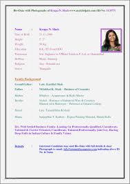 Example Of Resume Biodata Best Of Bio Data Sample For Job Best Debt