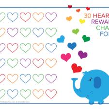 5 Day Reward Chart Rainbow Sky 30 Day Reward Chart For Kids Free Printable