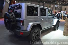 jeep rubicon black 2015. jeep wrangler black edition ii rear three quarter view at the 2015 geneva motor show rubicon