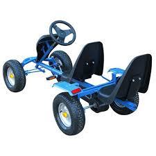 vidaxl co uk blue pedal go kart two seats blue pedal go kart two seats 2 2