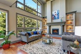 living room with hardwood floor and area rug