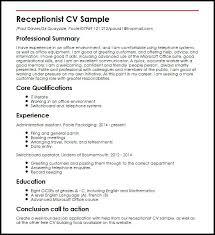 Sample Resumes For Receptionist Resume Receptionist Sample Sample