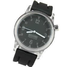 moschino mens black resin strap watch mw0306