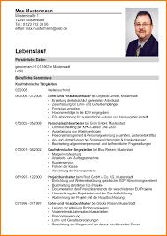 10 Lebenslauf Modell Resignation Format