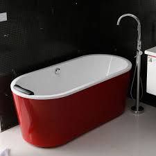 freestanding bath tub. bathtubs idea, free standing bath tubs acrylic freestanding bathtub gorgeous glossy red jacuzzi with tub