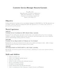 customer service objective resume example sample customer service resume australia full size of large medium