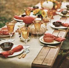 A rustic farm table in lighter tones is a perfect setting for a tablescape  au natural. Although, technically, there are three different colors here   green, ...