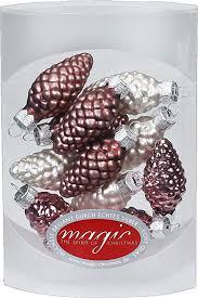 Magic 12 Zapfen 45 Cm Glas Weihnachtsschmuck Weihnachtsdeko Christbaumkugeln Christbaumschmuck 45mm Farbe Avenue Of Romance Rosa Magnolie