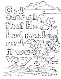 Days Of Creation Coloring Pages Free Awesome 7 Days Creation Crafts