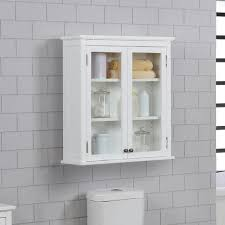 w wall mounted bath storage cabinet