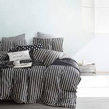 cloud gray striped comforter set
