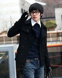 black coat men grey black winter double ted wool coat trench coats slim casual coat overcoat