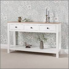 laura james white console table with 2 3 drawers and shelf console table with drawers ikea