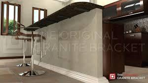 granite countertop support brackets make float with granite support brackets kitchen design s granite countertop