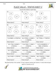 Free Math Place Value Worksheets Tens Ones For Grade Amazing 1 ...
