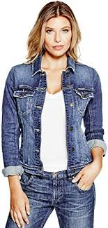 GUESS Women's <b>Classic Denim</b> Jacket: Amazon.<b>ca</b>: Clothing ...