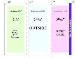 Quad Fold Brochure Template Word Accordion Fold Brochure Template Naomijorge Co