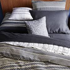 organic washed woven dot shams black west elm cb2 comforter pottery barn duvet insert reviews west elm cover white stuffing crate