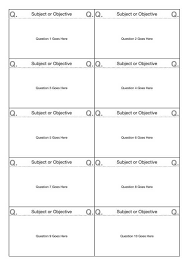 Flashcard Templates 10 Up Flashcard Template A4