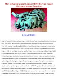 Engine Troubleshooting Chart Pdf Man Industrial Diesel Engine D 2866 Service R By Genia