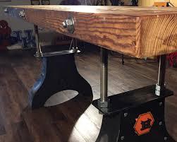 industrial reclaimed furniture. Vintage Industrial Reclaimed Wood Desk Furniture I