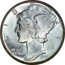 1941 D 10c Ms Mercury Dimes Ngc