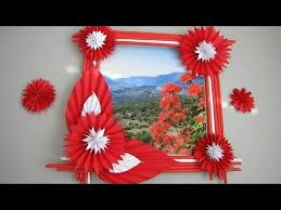 diy easy photo frame tutorial birthday gift idea room decoration made with color paper