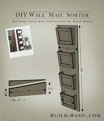 mail organizer wall mount brokers wood
