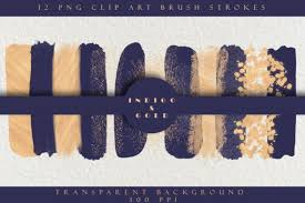 The designs for making strokes keychain can be resized to fit the size of keychain. Indigo Blue Gold Brush Strokes Graphic By Liquid Amethyst Art Creative Fabrica Gold Brush Stroke Brush Strokes Elements Design