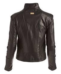 love this asymmetrical zip leather moto jacket women