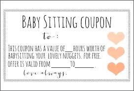 Baby Sample Coupon Template Book Sitting Instant Download