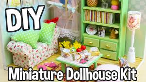 lighting for dollhouses. DIY Miniature Dollhouse Kit Cute Room With Working Lights! Family Hall Roombox - YouTube Lighting For Dollhouses