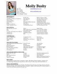 Sample Theatre Resumes Theatrical Resume Template Musicalre Word Actors For Beginners Actor