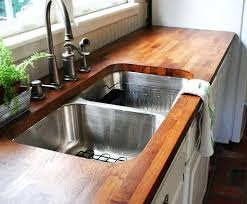 best sink for butcher block countertop wood sealed with the original finish butcher block countertop sink