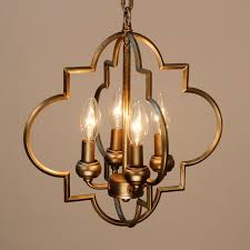 astin 4 light candle style chandelier antique gold