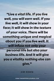 Jim Rohn Quotes Interesting Live A Vital Life Jim Rohn The Inspiring Journal