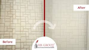 before and after picture of a grout cleaning service in marietta georgia