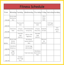 Business Schedule Template Business Timetable Template