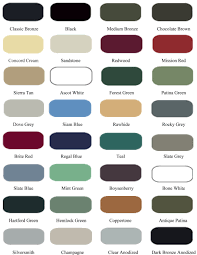 Patina Color Chart Color Chart