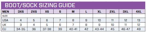 Scubapro Rock Boots Size Chart Heavy Duty Dive Boot 6 5mm