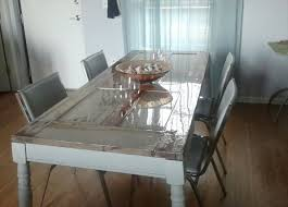 dining table made from old door