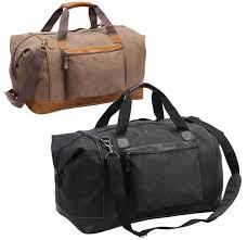 canvas duffle bag faux leather trim tahoe jpg