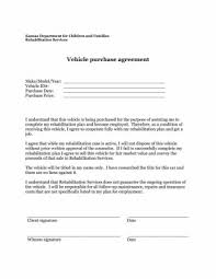 Vehicle Purchase Agreement Template Impressive Car Contract With New Auto Purchase Agreement Form