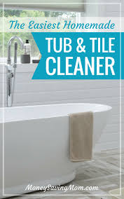 this homemade tub and tile cleaner is so easy to make smells wonderfully and