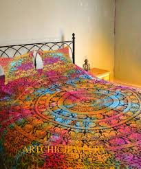 details about indian tie dye elephant mandala bedding set single double size quilt duvet cover